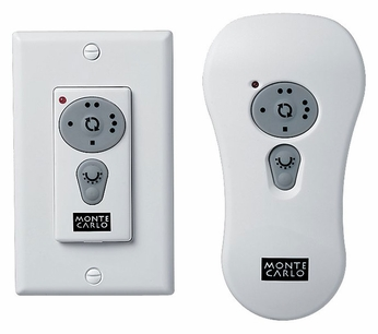 Monte Carlo Fans CT100 Convertible Wall/Handheld Transmitter w/ Downlight & Reverse Control