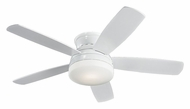 Monte Carlo Fans MC-5TV52WHD Traverse White Flush Mount 52 Inch Wide 5 Blade Contemporary Ceiling Fan