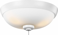 Monte Carlo Fans MC244WH Rubberized White LED Outdoor Ceiling Fan Light Fixture