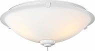 Monte Carlo Fans MC247RZW Rubberized White LED Fan Light Fixture