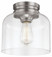 Feiss FM404BS Hounslow Retro Brushed Steel Finish 9 Wide Ceiling Light