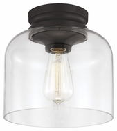 Feiss FM404ORB Hounslow Vintage Oil Rubbed Bronze Finish 8.875 Tall Ceiling Light Fixture