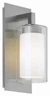 Feiss OL13000BS Salinger Brushed Steel Finish 5.5 Wide Outdoor Lighting Wall Sconce
