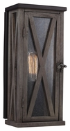 Feiss OL17005DWO-ORB Lumiere' Rustic Dark Weathered Oak / Oil Rubbed Bronze Finish 6.5 Wide Outdoor Light Sconce