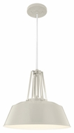 Feiss P1304HGG Freemont Modern Hi Gloss Grey Finish 16  Wide Pendant Light