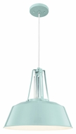 Feiss P1304SHBL Freemont Modern Hi Gloss Blue Finish 16  Wide Pendant Lamp