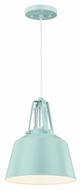 Feiss P1305SHBL Freemont Modern Hi Gloss Blue Finish 9  Wide Mini Pendant Lighting Fixture
