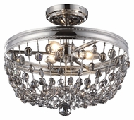 Feiss SF312PN Malia Polished Nickel Finish 15.875  Wide Overhead Lighting