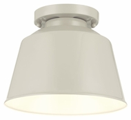 Feiss SF314HGG Freemont Contemporary Hi Gloss Grey Finish 7.125  Tall Flush Mount Light Fixture