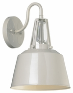 Feiss WB1726HGG Freemont Contemporary Hi Gloss Grey Finish 9 Wide Wall Mounted Lamp