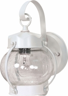 Nuvo 60-3457 Onion White Outdoor Wall Sconce