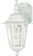 Nuvo 60-3473 Cornerstone White Exterior Lighting Wall Sconce