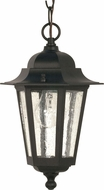 Nuvo 60-3476 Cornerstone Textured Black Outdoor Pendant Lighting