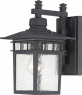 Nuvo 60-3493 Cove Neck Textured Black Exterior Lighting Wall Sconce