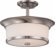 Nuvo 60-5450 Mobili Brushed Nickel Semi-Flush Ceiling Light Fixture