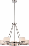 Nuvo 60-5475 Celine Polished Nickel Halogen Chandelier Light