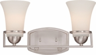 Nuvo 60-5482 Neval Brushed Nickel 2-Light Bath Light Fixture