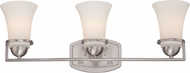 Nuvo 60-5483 Neval Brushed Nickel 3-Light Bath Lighting Fixture