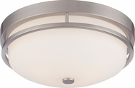 Nuvo 60-5486 Neval Brushed Nickel Flush Mount Lighting