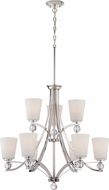 Nuvo 60-5499 Connie Polished Nickel Ceiling Chandelier