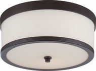 Nuvo 60-5576 Celine Venetian Bronze Flush Mount Ceiling Light Fixture