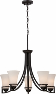 Nuvo 60-5585 Neval Sudbury Bronze Chandelier Light