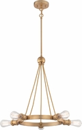 Nuvo 60-5715 Paxton Contemporary Natural Brass Chandelier Light