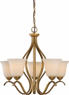 Nuvo 60-5815 Dillard Natural Brass Mini Ceiling Chandelier