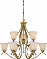 Nuvo 60-5819 Dillard Natural Brass Hanging Chandelier