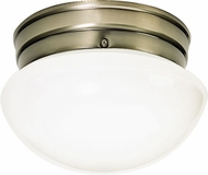 Nuvo 60-6114 Mushroom Antique Brass Ceiling Light Fixture
