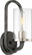 Nuvo 60-6121 Sherwood Contemporary Iron Black with Brushed Nickel Accents Wall Sconce