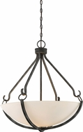 Nuvo 60-6125 Sherwood Contemporary Iron Black with Brushed Nickel Accents Hanging Pendant Lighting