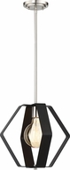 Nuvo 60-6392 Zen Modern Matte Black / Brushed Nickel Pendant Lamp