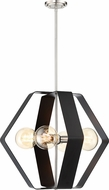 Nuvo 60-6393 Zen Contemporary Matte Black / Brushed Nickel Hanging Lamp