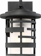 Nuvo 60-6401 Lansing Modern Textured Black Outdoor 7  Wall Lighting Sconce
