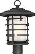 Nuvo 60-6406 Lansing Modern Textured Black Outdoor Post Lamp