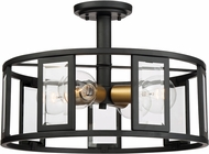 Nuvo 60-6413 Payne Contemporary Midnight Bronze Ceiling Lighting Fixture
