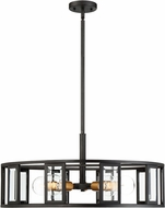 Nuvo 60-6416 Payne Modern Midnight Bronze Drum Hanging Pendant Lighting