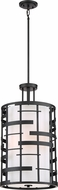 Nuvo 60-6433 Lansing Modern Textured Black Drum Drop Lighting