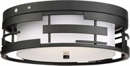 Nuvo 60-6434 Lansing Contemporary Textured Black Ceiling Light Fixture