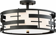 Nuvo 60-6436 Lansing Contemporary Textured Black Flush Lighting