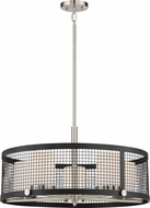 Nuvo 60-6454 Pratt Contemporary Black with Brushed Nickel Accents Drum Drop Ceiling Light Fixture