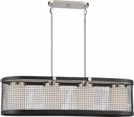Nuvo 60-6455 Pratt Modern Black with Brushed Nickel Accents Island Light Fixture