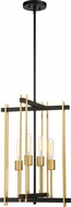 Nuvo 60-6525 Marion Modern Aged Bronze / Natural Bronze Entryway Light Fixture