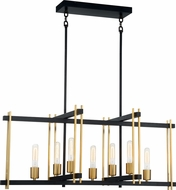 Nuvo 60-6526 Marion Contemporary Aged Bronze / Natural Bronze Kitchen Island Light Fixture
