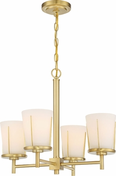 Nuvo 60-6534 Serene Natural Brass Mini Chandelier Light