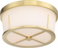 Nuvo 60-6537 Serene Natural Brass Flush Mount Light Fixture