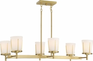 Nuvo 60-6538 Serene Natural Brass Island Lighting
