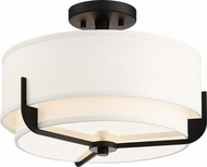 Nuvo 60-6545 Frankie Aged Bronze Flush Mount Lighting Fixture