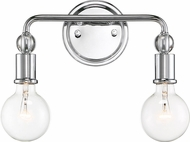 Nuvo 60-6562 Bounce Polished Nickel 2-Light Bathroom Light Fixture
